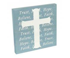 Spirit & Truth Wandtafel Spirit Cross Trust mit tiefem Waschbecken, 30,5 x 30,5 x 1,25 cm