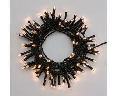XMASKING LED-Lichterkette 4,75 m, 96 LEDs warmweiß, batteriebetrieben, Zeitschaltuhr 6/18, mit Lichtspielen, Weihnachtsbeleuchtung, Weihnachtslichterkette, Weihnachtsbaumbeleuchtung