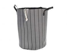 H+H Wäscheständer, Baumwolle und Polyester, 35 x 48 cm, Grau