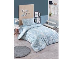 EnLora Home Bettdecke, Einzelbett, Blue Cream, 155 x 220 cm, 2 Stück