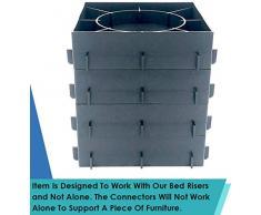DuraCasa Betterhöhungen, 12,7 cm, passend für große Bett- oder Möbelpfosten, schafft zusätzliche 12,7 cm Höhe oder Stauraum. Tisch, Stuhl, Schreibtisch oder Sofa Connectors to Connect Risers schwarz
