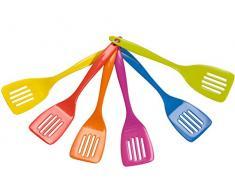 HOME 8913500 Set 6-teilig Forata Melamin Farben sortiert Küchenutensilien