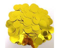 Peperlonely Tischkonfetti, glitzernd, runde Pailletten für Hochzeit, Babyparty, Geburtstag, Party, Dekoration, Zubehör, 25 mm (1 Zoll) 3#. Gold