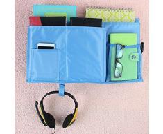 HYNKAM Mehrzweck-Organizer zum Aufhängen am Nachttisch, für Schlafzimmer, Kabinenbetten, Pink blau