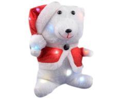 Weihnachtsbeleuchtung Teddy, rot/weiß