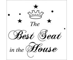 Hi-Shop Die Best Seat in TE-Haus Zitat Decors Wand Spruch Aufkleber Zitat WC Aufkleber Badezimmer Decor 1