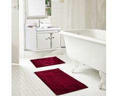 RT Designer Collection Bad-Teppiche (Set von 2), 100% Polyester, burgund