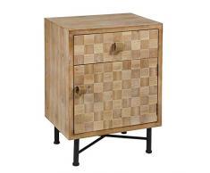 BigBuy Home Nachttisch, 50 x 70 x 38 cm, MDF, mehrfarbig, Einheitsgröße