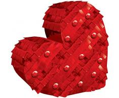 amscan Pinata Heart Foil Decoration-14.6cm x 14.8cm-1 Pc Mini-Piñata-Herz-Dekoration, 14,6 cm x 14,8 cm, 1 Stück, Mehrfarbig
