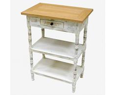Better & Best Nachttisch mit 1 Schublade und 2 Einlegeböden, rechteckig, 55 x 35 x 75 cm, Material: Holz, Weiß, Einheitsgröße