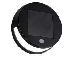 Paulmann 94265 Solar LED Wandleuchte Helena rund incl. 1x3 Watt Außenbeleuchtung Anthrazit Gartenbeleuchtung Kunststoff Außenwand 3000 K, 3 W