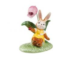 Goebel Ostern Figur Osterhase, Porzellan, Mehrfarbig, 12x8x14 cm