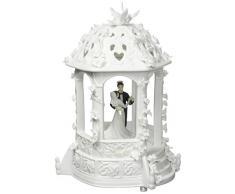 ATD® 30629 16,5 cm Dancing Braut und Bräutigam in Pavillon Statue