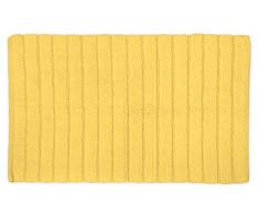 DII Badematte, besonders weich, luxuriös, gerippt, Memoryschaum-Baumwolle, Platz vor Dusche, Waschtisch, Badewanne, Waschbecken und WC 17x24 gelb