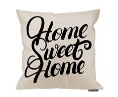 HGOD DESIGNS Kissenbezug mit Zitat, lustiges Zitat, Home Sweet Home Cotton Leinen Polyester Dekorative Home Decor Sofa Schreibtisch Stuhl Schlafzimmer 40,6 x 40,6 cm 18x18 Inch A13-0108