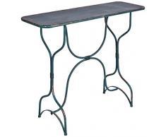 Better & Best Konsolentisch, groß, Eisen, Blau, Rot, Maße 102 x 33 x 80 cm, Material: Metall