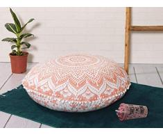 Popular Handicrafts Mandala Round Hippie Bodenkissen 24 Pillow Cover Rose Gold