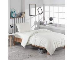EnLora Home Bettdecke, Einzelbett, Cremefarben, 155 x 220 cm, 2 Stück