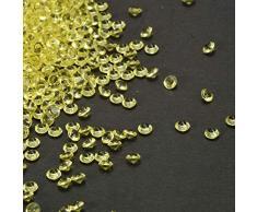 JHere Acryldiamanten klar Hochzeit Tischstreuung Kristalle Streudeko für Hochzeit Brautparty Party Dekorationen Vasen Füller Kunst und Handwerk – 4,5 mm, 5000 Stück gelb