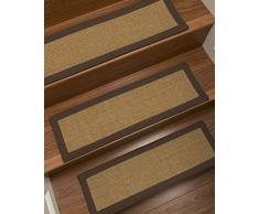 NaturalAreaRugs Moda Custom Sisal Stufenmatten (Set mit 13 Stück), Fudge, 9 x 29 Set of 13