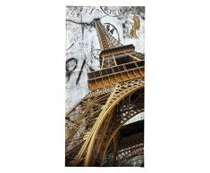 OZINCI Strandhandtuch, 3D-Druck, Paris, Eiffelturm, ideal für Strand und Schwimmbad für Erwachsene und Kinder, türkische Baumwolle, Übergröße, super weich, saugfähig, große Handtücher