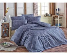 EnLora Home Bettdecke, Einzelbett, Blau, 155 x 220 cm, 2 Stück