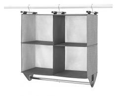 Whitmor Kleiderschrank mit 4 Fächern und integrierter Chrom-Kleiderstange