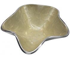Majestic Giftware D109P Dekoschale mit elfenbeinfarbenem Stein, 7 x 18 x 18 cm