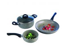 Tognana Snackschale 8-teilig Aluminium Tolles Küche Akku Pan und Kasserolle-Set, grau