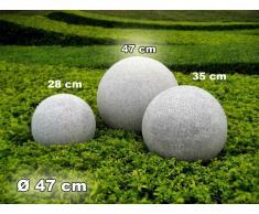 Kugelleuchte Gartenkugel GlowGranite 47cm 10222