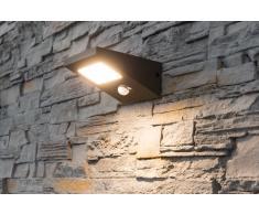 Solar LED Wandleuchte Fiona mit Bewegungsmelder und Dauerlicht