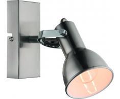 Wandleuchte Deckenleuchte Fargo silber Metall 1xE14 Relektor dreh- und schwenkbar