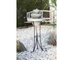 Brunnen Gartenbrunnen auf Metallgestell FoScalino 100x42cm 10747