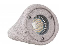 Stein Strahler PASSAU GU5.3 IP67 inkl. 3W LED Heiconnect