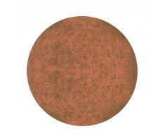 DekoLight Kugelleuchte Gartenkugel Terracotta 450 mm max. 20 W E27 braun IP65 inkl. Erdspieß