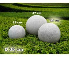 Kugelleuchte Gartenkugel GlowGranite 35cm 10221