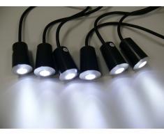 Power LED Einbaustrahler, 6er Set, IP67, 4cm, weiß, 10132