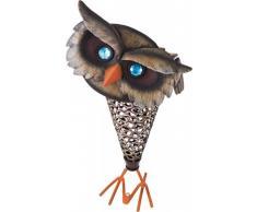 Solar LED Deko Leuchte OWL Eule aus Eisen