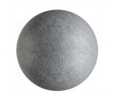 DekoLight Kugelleuchte Gartenkugel Granit 450 mm max. 23 W E27 grau IP65 inkl. Erdspieß