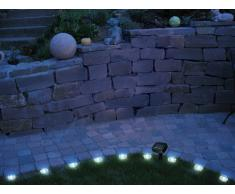 Solar LED Rasenkanten Lichterkette 12-teilig PROMENADE Wegbeleuchtung