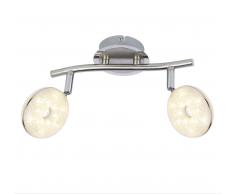Globo LED Deckenleuchte 2-flammig chrom 56123-2