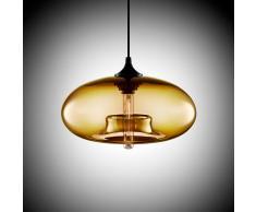 Moderne Glas Pendelleuchte und Hängeleuchte Farbe Bernstein