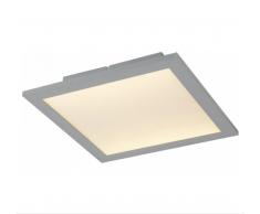 Globo LED Deckenleuchte silber metallic 41630D1