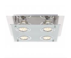 Globo LED Deckenleuchte chrom 48970-4
