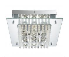 Globo LED Deckenleuchte Chrom 49360