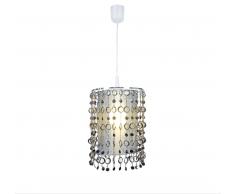 Näve 7013523 Lampenschirm zur Kombination mit Pendelleuchte Farbe Silber