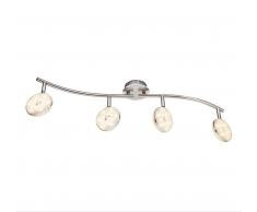 Globo LED Deckenleuchte chrom 56123-4