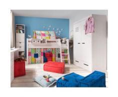 INFANSKIDS Kinder- und Jugendzimmer Kleiderschrank 2-türig / Kiefer weiß