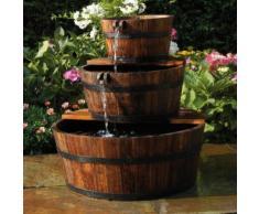 Ubbink Garten Wasserfall Brunnen Holzfaß Set 3 Fässer