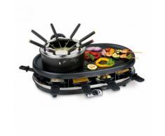 Trebs Raclette-und Fondue-Set Schwarz 1800 W 99322